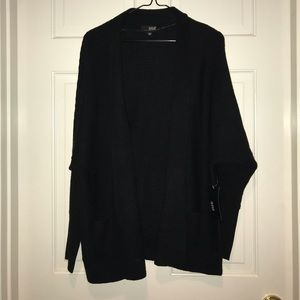 Women's a.n.a. Black Cardigan Sweater Size Large